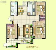 民泰・龙泰国际3室2厅1卫160平方米户型图