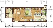 龙湖两江新宸1室1厅1卫0平方米户型图