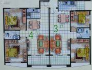 春天海景2室2厅1卫77--85平方米户型图