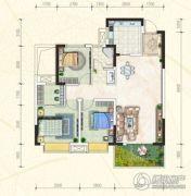 万豪・公园里3室2厅1卫111平方米户型图
