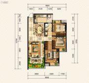 金龙星岛国际3室2厅1卫0平方米户型图