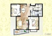 上海新城2室2厅1卫111--112平方米户型图