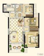 四季金辉3室2厅1卫85平方米户型图