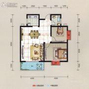 万华汽车城2室2厅1卫76平方米户型图