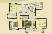 宏博锦园 高层3室2厅2卫137平方米户型图