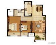 大华锦绣华城2室2厅1卫80平方米户型图