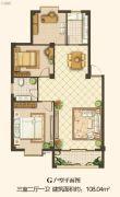 凤凰花园南区3室2厅1卫0平方米户型图