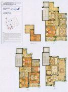 四季原著4室2厅3卫169平方米户型图
