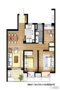 信义嘉庭3室1厅2卫0平方米户型图