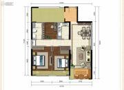 龙斗壹号・海岸城3室2厅1卫109平方米户型图