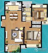 保利天琴宇2室2厅1卫0平方米户型图