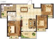恒大悦龙台3室2厅1卫0平方米户型图