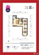 美好家园3室2厅1卫87--89平方米户型图
