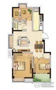 百丽明珠花园3室2厅1卫91平方米户型图