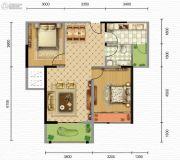 凯旋・煌境2室2厅1卫85--89平方米户型图