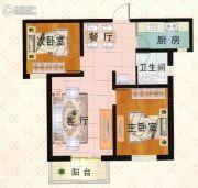 富泰城2室1厅1卫84平方米户型图