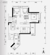 保利华润紫云3室2厅1卫90平方米户型图
