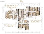 沙湖绿洲4室2厅2卫152平方米户型图
