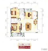 翰林世家3室2厅2卫126平方米户型图