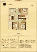 文华南阳天地3室2厅1卫108--122平方米户型图