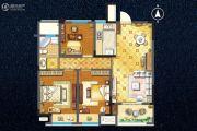宇业天逸华庭3室2厅1卫100平方米户型图