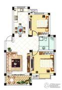 中浪玉泉花苑2室2厅1卫87平方米户型图
