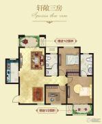 建业壹号城邦3室2厅2卫112平方米户型图