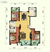 保利香榭里公馆3室2厅2卫143平方米户型图