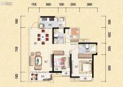 藏珑华府3室2厅2卫95平方米户型图