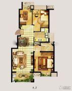 翠屏城3室2厅2卫88平方米户型图
