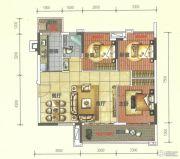 奥园春晓3室2厅1卫88平方米户型图