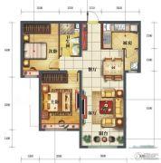 海亮滨河壹号2室2厅1卫92平方米户型图