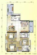 元邦明月水岸3室2厅2卫129平方米户型图