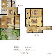 华盟天河湾3室2厅3卫152平方米户型图