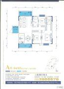 御品蓝湾3室2厅2卫143平方米户型图