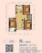 印象青城3室2厅1卫0平方米户型图