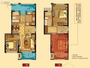 华润橡树湾四期3室2厅2卫110平方米户型图