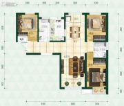 普天格兰绿都3室2厅2卫140平方米户型图
