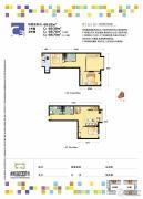 青朗园3室2厅2卫66平方米户型图