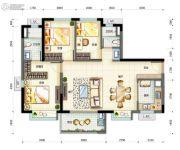 万科・珠江东岸3室2厅2卫0平方米户型图