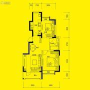 俪锦城・听澜郡2室2厅1卫90平方米户型图