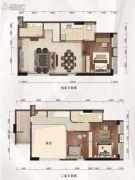 融达领寓3室2厅2卫105平方米户型图