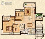 清远奥园3室2厅2卫0平方米户型图