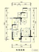 智弘银城绿洲2室2厅1卫86平方米户型图
