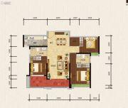 绿地新里缇香公馆3室2厅2卫125平方米户型图