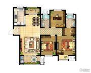 华润国际社区3室2厅2卫134平方米户型图