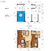 新时代广场3室2厅2卫100平方米户型图