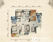 五矿龙湾别墅3室2厅1卫113平方米户型图