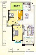 宏瑞新城2室2厅1卫89平方米户型图