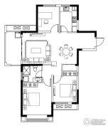亚东观樾3室2厅1卫107平方米户型图